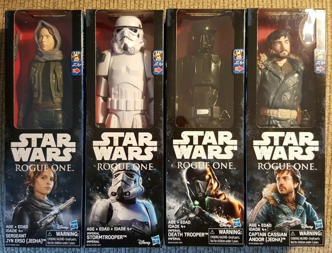 """BRAND NEW SET OF 4 STAR WARS ROGUE ONE 12"""" ACTION FIGURES By Hasbro NIB"""