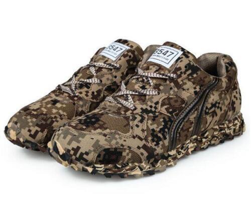 nueva trabajo zapatos atan outwear zapatilla arriba malla transpirable para la de lienzo camo militar deporte Mens xFqXZZ