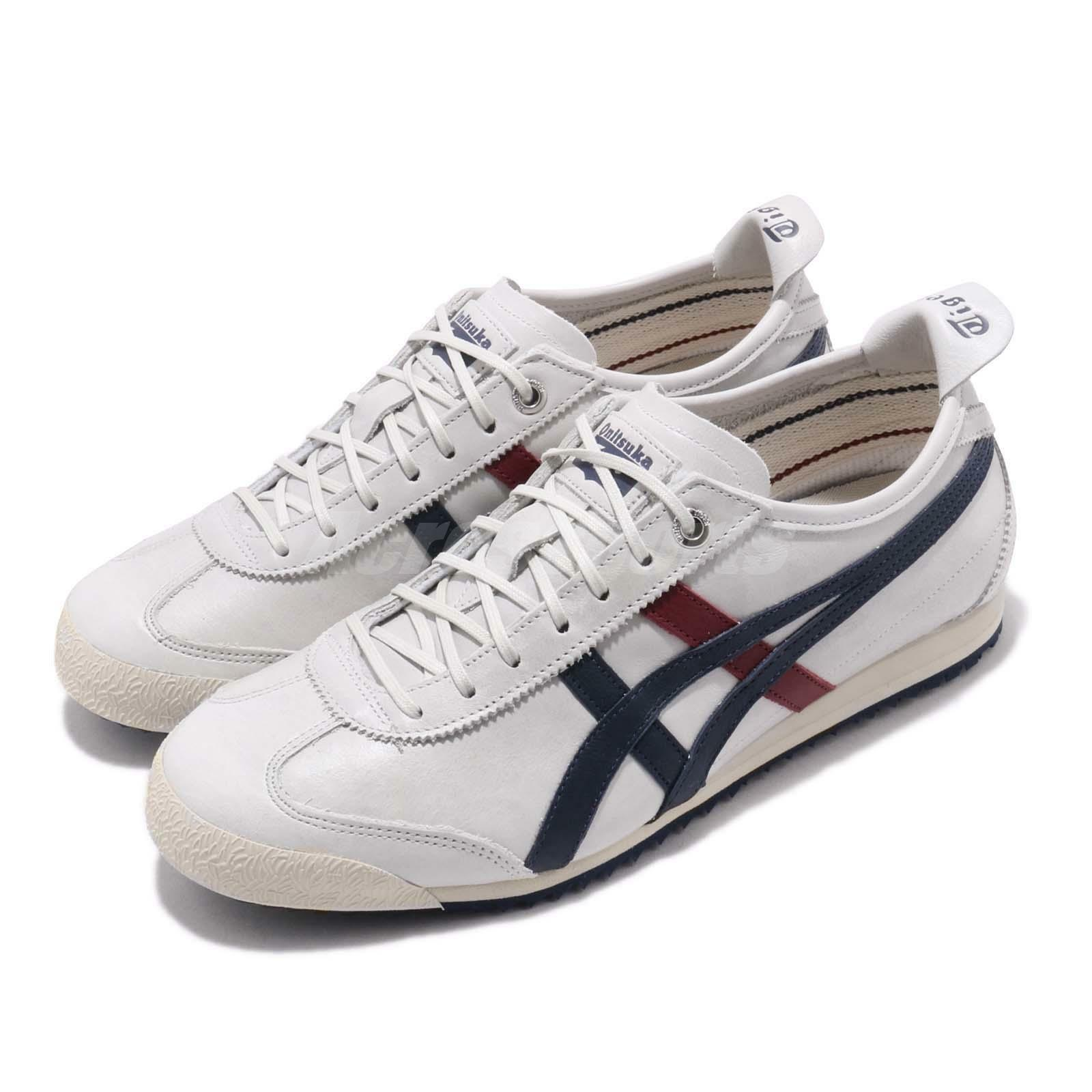 Asics Onitsuka Tiger Mexico 66 SD Grey blueee Red Retro Running shoes 1183A474-020