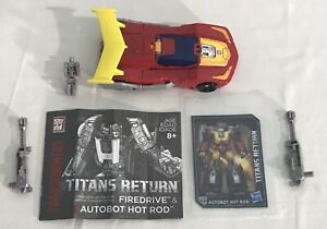 2016 Transformers Titans Return HOT ROD & Firedrive, Deluxe Class, Complete