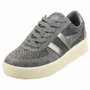 Gola Grandslam Savanna Womens Pewter Suede & Synthetic Fashion Trainers