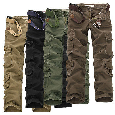 Thicken Washed Overalls Multi-pocket Pants Working Clothes Fashion Men's Wear