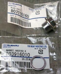 OEM Subaru Oil Drain Plug + Crush Gasket Genuine Impreza Forester Legacy Outback