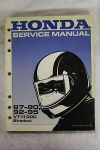 honda oem service repair manual 87 90 92 95 vt1100c vt1100 c shadow rh ebay ie 2001 vt1100 service manual pdf honda vt 1100 service manual pdf