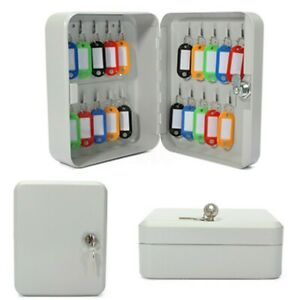 20-Key-Hook-Organizer-Cabinet-Storage-Wall-Mount-Lock-Box-Security-Safe