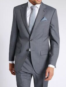 Suit amp;s Wool 'petrol' Collection Fit Prp Luxury M £189 Blue Regular Textured aU1Bwfq