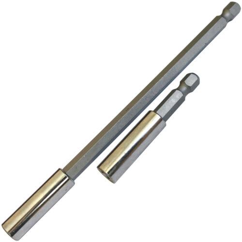 Magnetic Bit Holder/ 2 Screwdriver Extension bars power drill driver bit holder