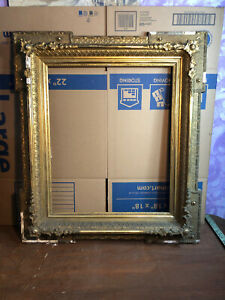 Rare-Victorian-Gesso-Picture-Frame-Fits-20-by-24-Painting-Civil-War-Era