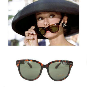 74ed171a9b3e Image is loading Breakfast-Tiffanys-Cat-Eye-Tortoiseshell-Sunglasses -Audrey-Hepburn-