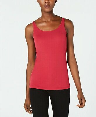 2XS, L NWT $98 Eileen Fisher Long Scoop Neck Silk Camisole