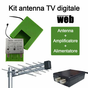 Kit-TV-digitale-UHF-Antenna-Amplificatore-Alimentatore