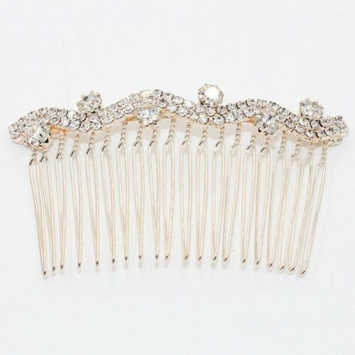 Women Rhinestone Barrette Bobby Pin Comb Hairpin Hair Clip Bridal Hair Accessory