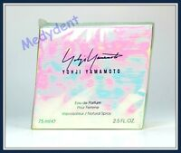 Yohji Yamamoto Eau De Parfum 2.5 Oz / 75 Ml For Women Discontinued Sealed