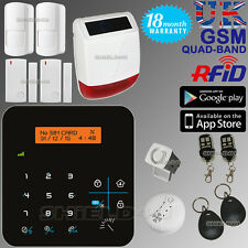 LCD WIRELESS GSM AUTODIAL HOME HOUSE OFFICE SECURITY BURGLAR INTRUDER RFID ALARM