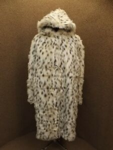 Absolutely-Gorgeous-Full-Length-Hooded-Faux-White-Snow-Leopard-Fur-Coat-NEW-1X