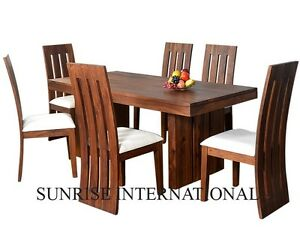 Designer Wooden Dining Table with 6 Chair Set (SUN-DSET639)