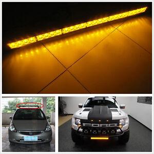 24 led amber emergency strobe safety warning light bar for car truck. Black Bedroom Furniture Sets. Home Design Ideas