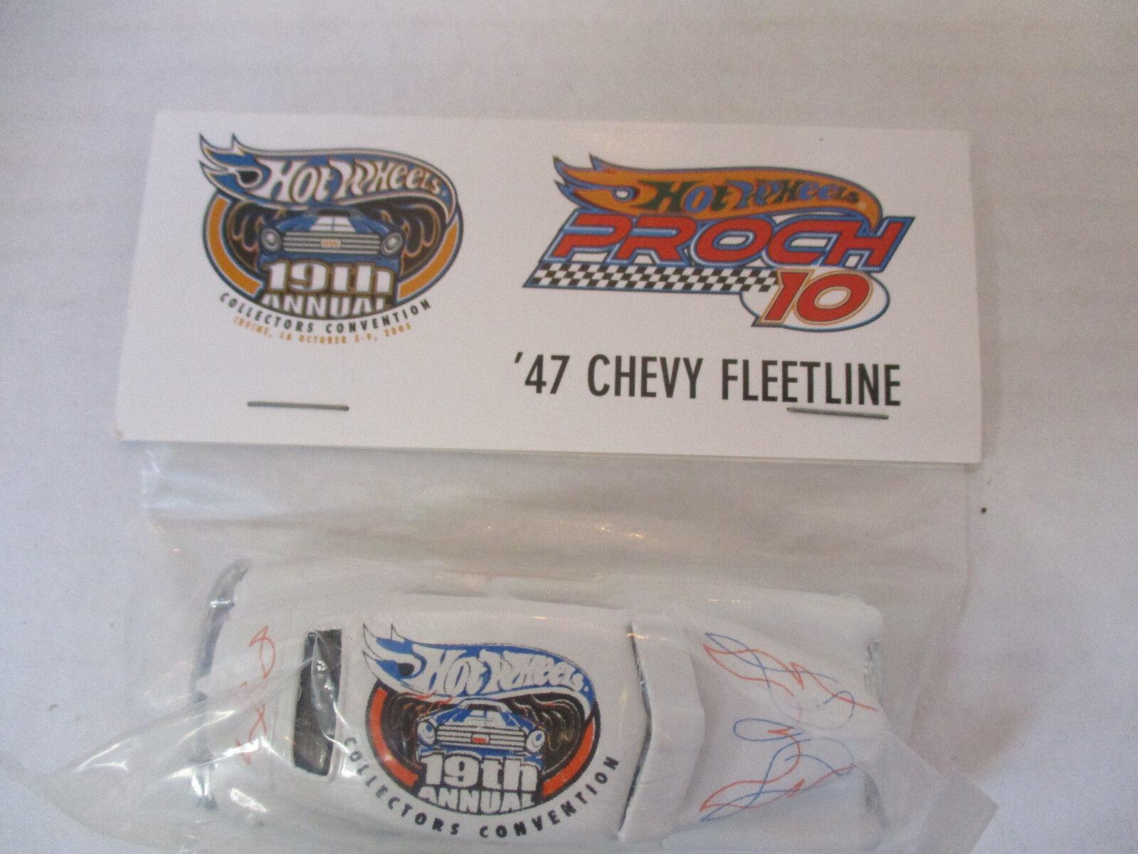 Hot Wheels 19th Annual Collectors Convention Proch 10 '47 Chevy Fleetline NIP