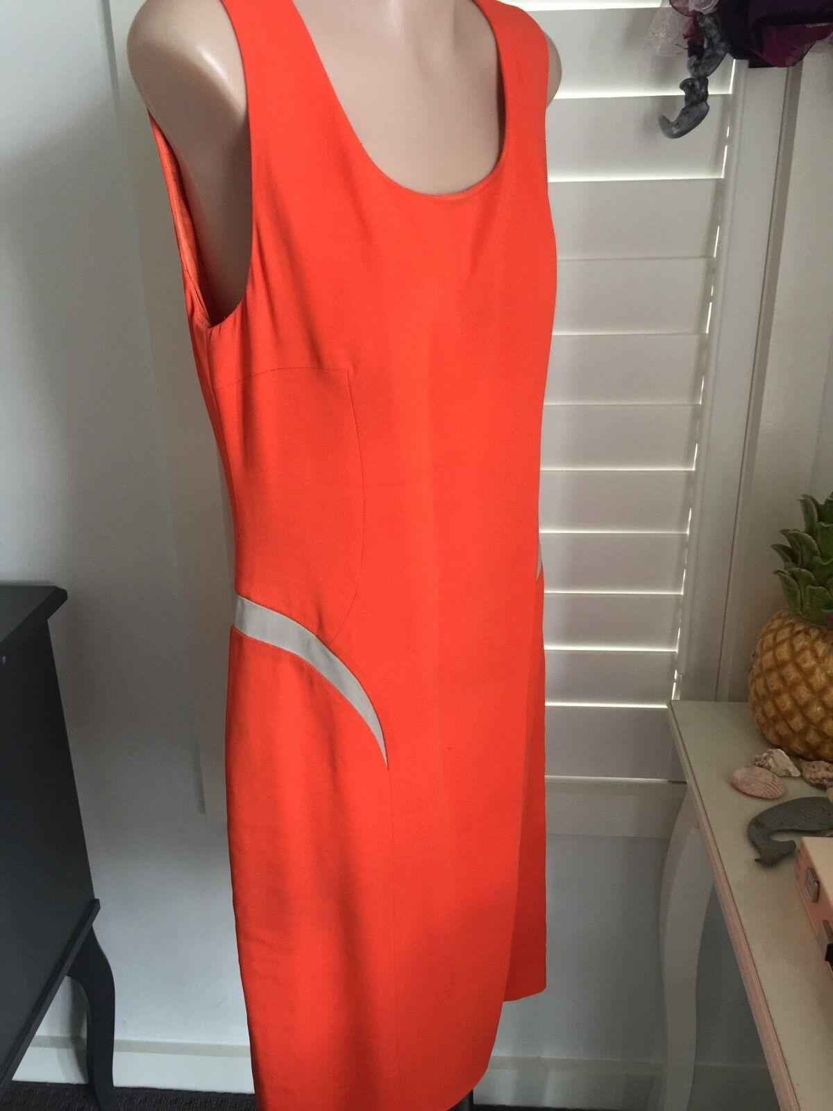 Authentic Versace orange Paneled Crepe Dress IT42 IT42 IT42 RRP 1875 42e25e