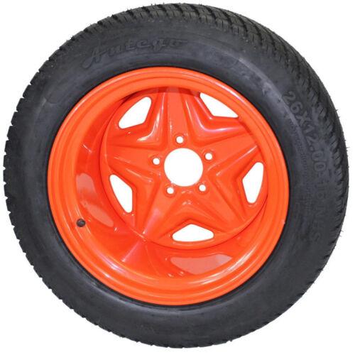26X12.00-16 Tire Wheel Assy Kubota OEM Replacement  FREE SHIPPING