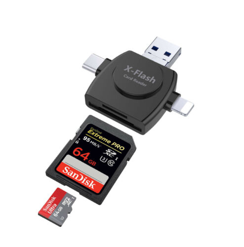 Type C Android SD TF Card Reader for iPAD iPhone X 8 PLUS LG G6 SAMSUNG S9 S8