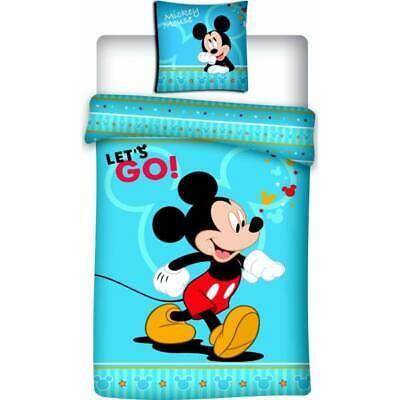 Onestà Parure De Lit Mickey, 140x200, Housse De Couette Mickey, Parure De Lit Enfant