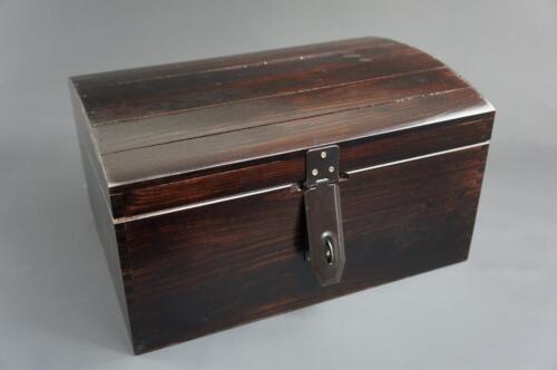1 x Large Brown Wooden Box Trinket Keepsake Memory Treasure Chest SO22BL