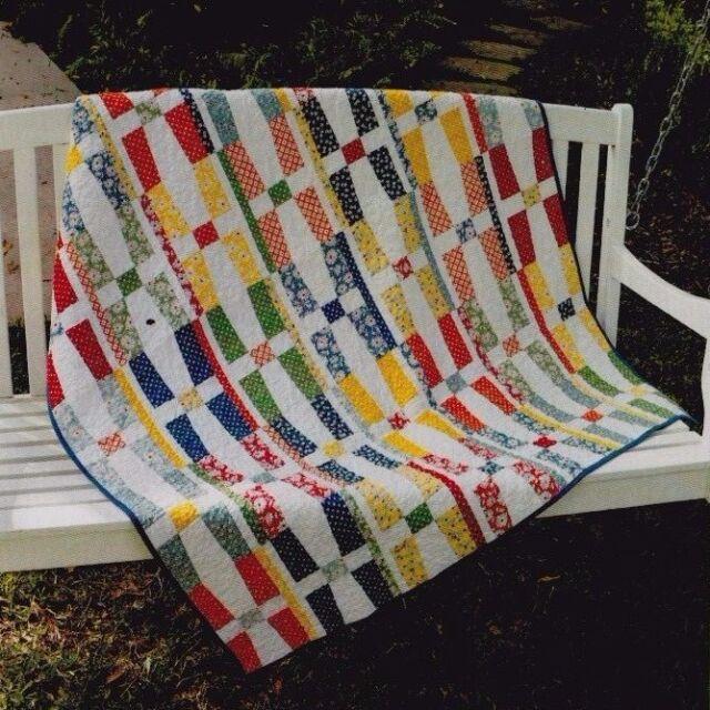 SALE - Cherry Cream - modern pieced quilt PATTERN - Abbey Lane