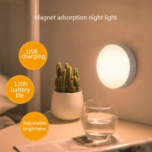 Wireless-Recharge-PIR-Motion-Sensor-6LED-Night-Light-Lamp-Wall-Wardrobe-Dimmable
