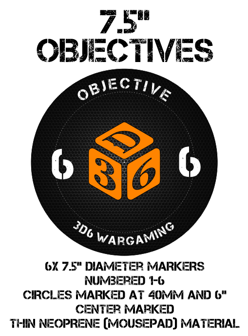 Warhammer 40k Objective Objective Objective Markers - 7.5  Neoprene cc1bac