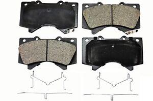 Front Rear Ceramic Brake Pads For Lexus LX570 Toyota Land Cruiser Tundra Sequoia