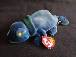 6debb1ed977 Image is loading Ty-Beanie-Babies-RAINBOW-Chameleon-1997-PE-Pellets-