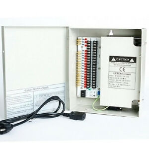 18Ch-12V-20-Amp-DC-Distribute-Power-Supply-Box-for-Security-Camera-CCTV-System