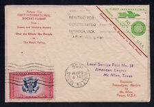 1936 MEXICO-US First International Rocket Flight - Return Trip - EZ12C1