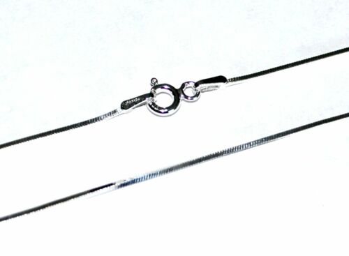 VARIOUS LENGTHS AVAILABLE 5 STERLING SILVER SQUARE SNAKE CHAINS 1mm