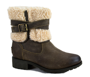 6fb5359bdd4 Details about New UGG Womens Blayre III Dove Waterproof Leather Ankle Boots