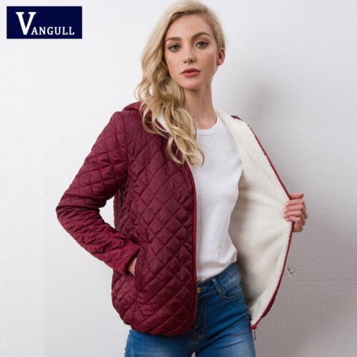 Autumn 2018 New Parkas basic jackets Female Women Winter plus velvet lamb hooded