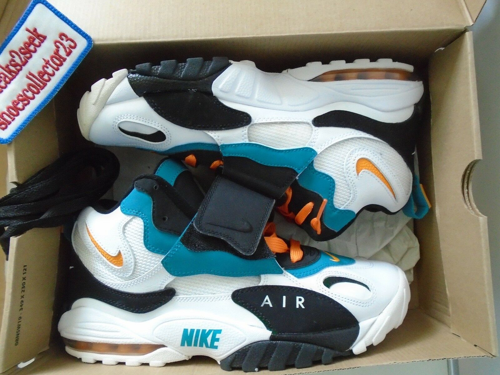 AIR MAX SPEED TURF White/Industrial Orange-Black - Nike OG 525255 100 Size 10
