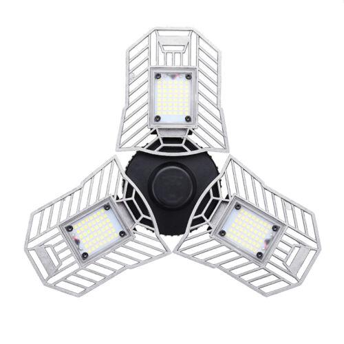 IP54 Garage LED Licht 6000LM 6500K E27 Bewegungsmelder Innendeckenleuchte N6D9