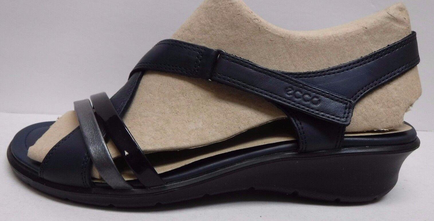 Ecco Größe EUR 41 US 10 10.5 10.5 10 Blau Felicia Leder Sandales New Damenschuhe Schuhes cf3952
