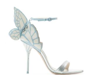 Zapatos de tacón alto Mujer punta abierta bombas Sandalias De Cuero Zapatos De Princesa ala de mariposa