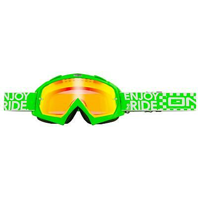 Oneal B-flex Goggle Launch Verde A Specchio Moto Cross Occhiali Moto Mtb Dh Fr- Eppure Non Volgare