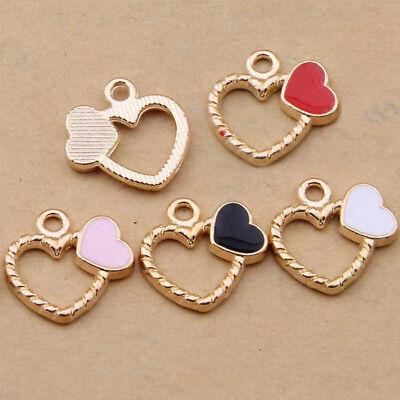 Enamel Mushroom Pendant Charm Bead Earring Necklace Jewelry Accessories N1086