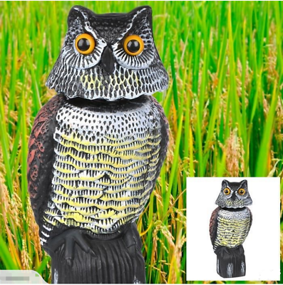 Owl Scarecrow Decoy Scare Garden Horned Pest Great Crow Owl Bird Scare Repellent Heilzaam Voor Het Sperma