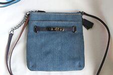 NWT Coach Leather Crossbody Swingpack Swagger Bag 36501/38076 Denim/Blue/Sliver