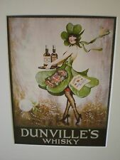"Reproduced Vintage Adverts - ""Dunville's Whisky""  circa 1925"" showcard"