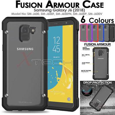 newest 8716d 6d5ab Samsung Galaxy J6 2018 [Fusion Armour] Premium Slim Hybrid Protective Case  Cover   eBay