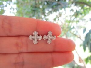 30-Carat-Diamond-White-Gold-Cross-Earrings-14k-codeEx62-sep
