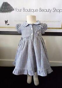 PUMPKIN-PATCH-DRESS-BABY-TODDLER-BLUE-BEAUTIFUL-STRIPS-FLOWER-GIRL-BEAUTIFUL