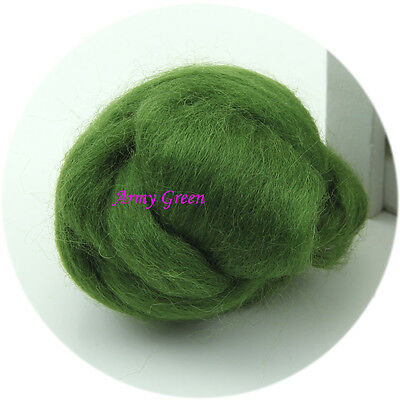 Needlefelting Wool Corriedale Top Roving Dyed Spinning Wet Felting Fiber New